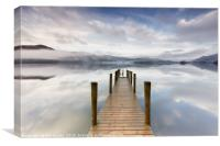 Ashness Jetty Calm and Mist, Canvas Print