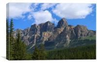 Castle Mountain - Bow Valley Parkway, Canvas Print