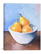 The fruit bowl, Canvas Print