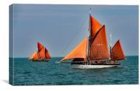 Brixham Sail Trawlers Vigilance and Provident, Canvas Print