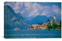 Malcesine, Lake Garda, Canvas Print