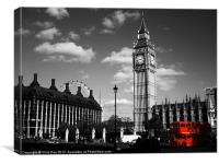 Routemaster Bus and Big Ben, Canvas Print