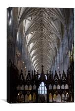 Winchester Cathedral Nave ceiling from the Quire., Canvas Print