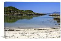 Idyllic beach, landscape, Lochaber, Scotland, Canvas Print