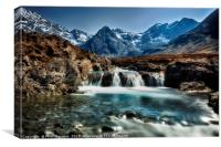 Fairy Pools, Isle of Skye., Canvas Print