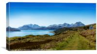 The Sound of Raasay and The Cuillin mountain range, Canvas Print