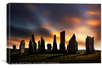 Sunset over the  Callanish Standing Stones, Canvas Print