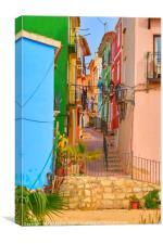 Backstreet  Villajoyosa, Canvas Print