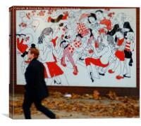 London street art framed photo print, Canvas Print