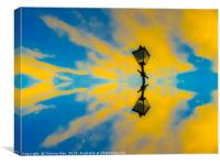 HD Yellow And Blue Watercolour Sky Seeing Double , Canvas Print