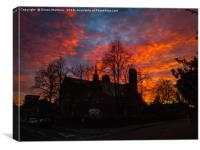 A Dramatic Sunset in a Liverpool Suburb, Canvas Print
