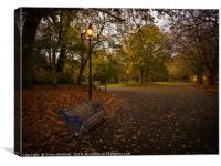 Autumn Path by Lamplight, Canvas Print