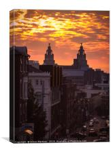 A Liverpool Sunset, Canvas Print