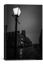 A Rainy Night in Rodney Street, Canvas Print