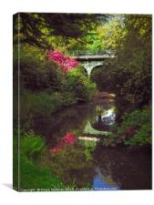 The Fairy Glen & Iron Bridge: A Portrait View, Canvas Print