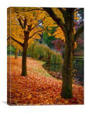 Pillars of Autumn, Canvas Print