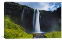 Seljalandsfoss are one of the impressive waterfall, Canvas Print