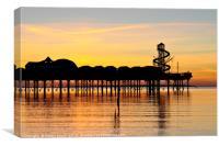 Herne Bay pier at sunset, Canvas Print