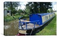 Narrowboat at Alrewas , Canvas Print