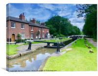 Fradley Junction Locks, Canvas Print
