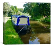 Narrowboat on Trent and Mersey Canal, Canvas Print