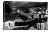Over Cast at Fradley Junction, Canvas Print