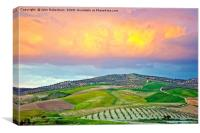 Sunset clouds, Andalusia, Spain, Canvas Print