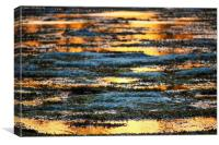 Sunset reflected in the Indian ocean, Kenya, Canvas Print