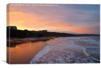 Whitby Beach at Sunset, Canvas Print