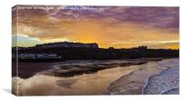 Whitby Sunset, Canvas Print