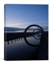 The Falkirk Wheel At Sunset, Canvas Print