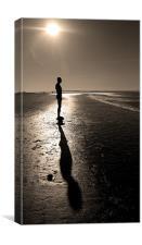 Sepia Silhouette, Canvas Print