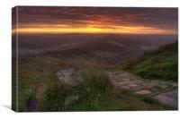 Dawn at Mam Tor, Canvas Print