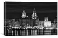 Liverpool at night, Canvas Print
