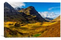 The 3 Sisters Glencoe , Canvas Print