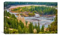The Hoodoos Alaska, Canvas Print