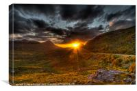Sunset in the Highlands, Canvas Print