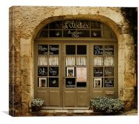 French Cafe, Canvas Print