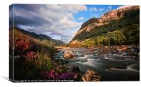 Lovely View Of Glen Coe, Canvas Print