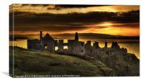 Sunset over Dunluce Castle, Canvas Print