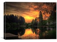 Golden Light On Loch Ard, Canvas Print