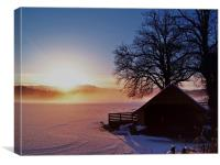 Sunburst Over Loch Ard, Canvas Print