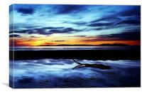 Troon Beach, Reflections, Canvas Print