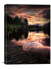 Loch Ard, Summer Dreams, Canvas Print