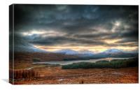Winters Sun Over Loch Tulla, Canvas Print