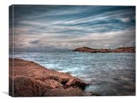 Isle of Arran from Troon, Canvas Print