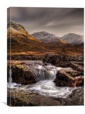 The River Etive, Scotland, Canvas Print