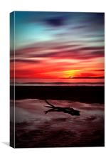 Sunset Over Troon Beach, Canvas Print