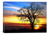 Rainbow Sky, Scottish Sunset, Canvas Print