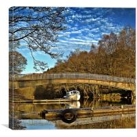 Bride Reflections on Loch Earn., Canvas Print